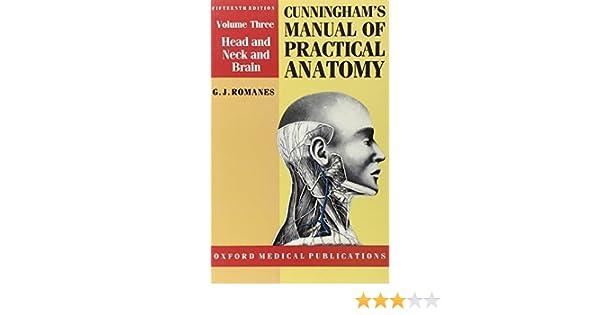 Buy Cunninghams Manual Of Practical Anatomy Volume 3 Head And