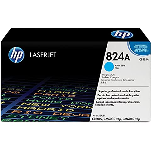 HP CB385A - Tambor de imágenes LaserJet HP 824A cian