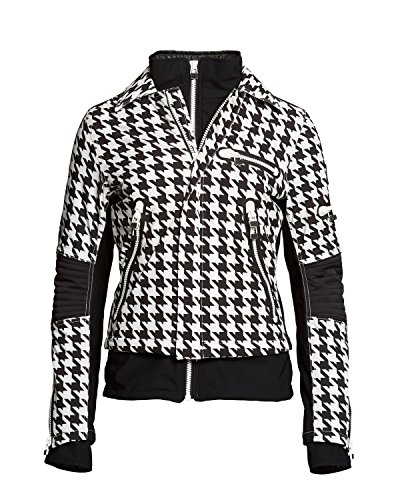 S.O.S Damen Skijacke WS Biker Jacket 1621010-027 White Cloud Check (40)