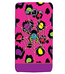 Citydreamz Spider/Pink Hard Polycarbonate Designer Back Case Cover For Samsung Galaxy On7
