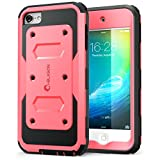 i-Blason iPod Touch 6th Generation Case, Armorbox [Dual Layer] Hybrid Full body Case with Built-in Screen Protector for Apple iTouch 5th/6th (Pink)
