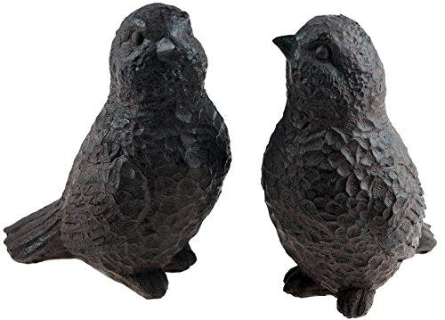 Effet Fer Lot de 2 décorations de jardin Écureuil/14 cm figurines