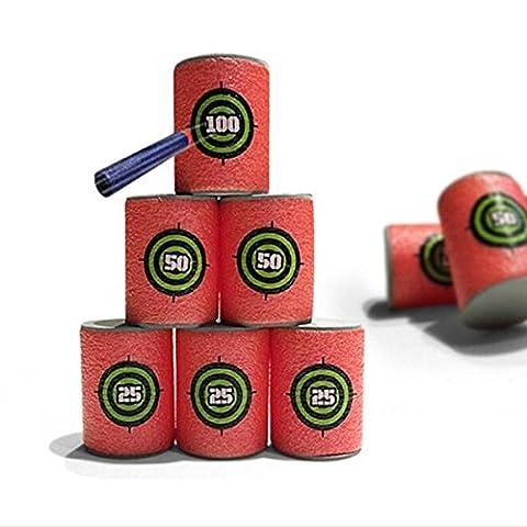 KaLaiXing® 6pcs Soft EVA Target for Nerf N-strike Elite Series Blasters Kids+ 10pcs 7.2cm Refill Bullet Darts for Nerf N-strike Elite Series Blasters Navy Blue