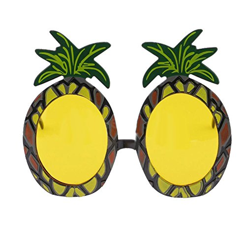 Livecity Funny Erwachsene Kind Hawaiian Tropical Gläser Sommer Fancy Dress Party Decor Foto Prop Pineapple ()