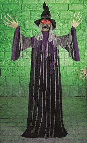 Halloween Sprechende Grusel Hexe, batteriebetrieben, mit Licht und Sound, (Hexe Sprechende)