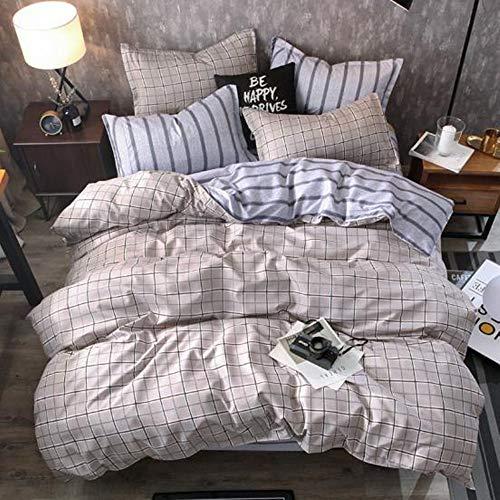 Chickwin Bettwäsche Set 4tlg, Doppelbett Bettwäsche 100% Mikrofaser Flashion Stil Gemütlich Bettbezug -Set,1 Bettbezug +2 Kissenbezug+1 Blätter (180 * 220cm,Süßer Traum) -
