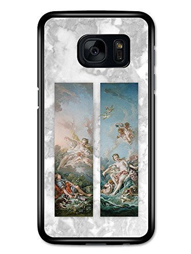 Classic Vintage Paintings on Cool Goth Grunge Marble Effect case for Samsung Galaxy S7,cassa del caso cover