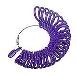 Cnmade 27pezzi plastica anello Sizer dito gauge Jewellery kit attrezzo misuratore per anelli diametri Purple