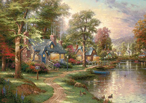 Schmidt Spiele 57452 Thomas Kinkade, Am See, 1500 Teile Puzzle, bunt -