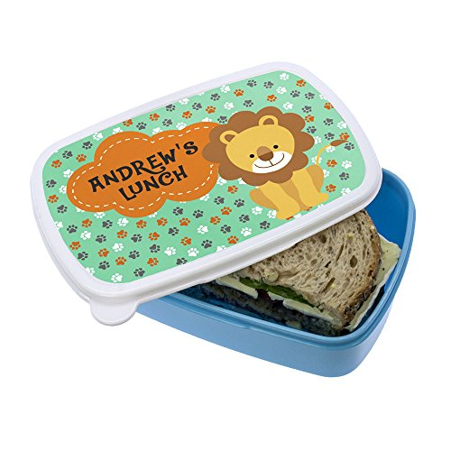 my-little-lion-lunch-box-personalised-pink-lunch-box-kids-gift-school-lunch-box