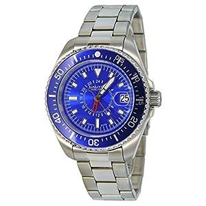 Nautec No Limit Deep Sea DS QZ-GMT/STSTBLBL - Reloj para hombres, correa de acero inoxidable color plateado de Nautec No Limit