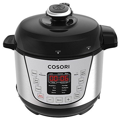 Cosori 7-in-1 Programmierbarer Elektrischer Schnellkochtopf, Multikocher, Reiskocher, Dampfgarer Kochtopf, Joghurtbereiter, 24 Stunden Timer Multifunktion und Warmhaltefuntion, 2 L, 720W