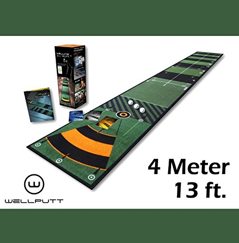 WELL&WELL Welling Putt Tapis de putting 4mètres | 400x 50cm–L'original de Well Putt