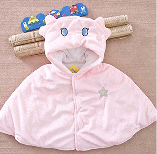Baby-Cloak mit Schal Babydecken Zwölf Constellations Babymantel Rosa Virgo