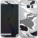 Samsung Galaxy S6 Edge Case Skin Sticker aus Vinyl-Folie Aufkleber Camouflage Muster Schwarz Grau