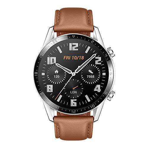 """Oferta de Huawei Watch GT2 Classic - Smartwatch con Caja de 46 Mm (Hasta 2 Semanas de Batería, Pantalla Táctil Amoled de 1.39"""", GPS, 15 Modos Deportivos, Llamadas Bluetooth), marrón"""