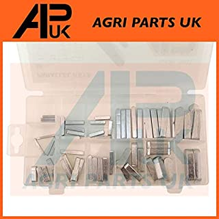 APUK 60pcs Steel Imperial Parallel Feather Key Keys Assortment Hub Shafts 1/4 Round
