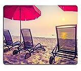 Mousepads Strandbett auf Vintage Filter der Sonnenuntergangzeit von Tony Mat Customized Desktop-Laptop-Gaming-Mauspad