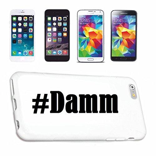 Handyhülle Samsung S8 Galaxy Hashtag #Damm im Social Network Design Hardcase Schutzhülle Handycover Smart Cover für Samsung Galaxy Smartphone in Weiß Schlank und schön, das ist unser HardCase. Das Ca