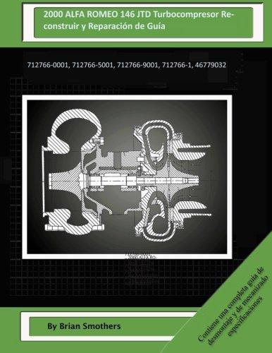 2000 ALFA ROMEO 146 JTD Turbocompresor Reconstruir y Reparación de Guía: 712766-0001, 712766-5001, 712766-9001, 712766-1, 46779032 por Brian Smothers