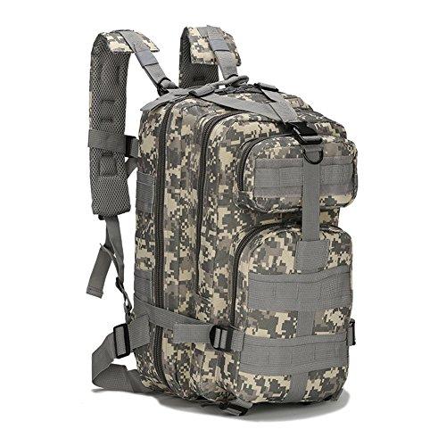 ECHI 3P Tactical Rucksack, Military Water Repellent Wandern Camping Rucksäcke für Outdoor Wandern Camping Trekking Jagd (Khaki)