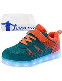 [Present:kleines Handtuch]Gelb EU 34, LED schuhe Aufladen Winter und Leucht Kinderschuhe Schuhe Junge 7 USB Unisex Sport Farbe Herbst weise Paare Freizeitschuhe laufen