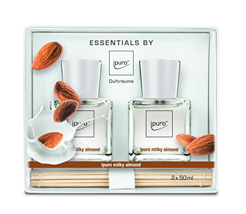ipuro ESSENTIALS Geschenkset Raumduft milky almond, 1er Pack (2 x 50 ml) Magnolia Flower Bowl
