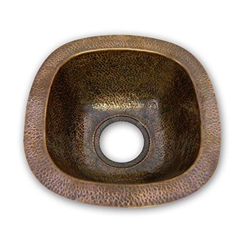 Houzer HW-SCH1BF Hammerwerks Series Undermount Copper Single Bowl Bar/Prep Sink, Antique Copper by HOUZER