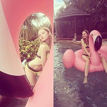 Riesiger Aufblasbar Flamingo Luftmatratze Aufblasbarer Flamingo Pool Floß Schwimmtier Schwimminsel Schwimmreifen Pool Spielzeug Wasserspielzeug Luftmatratze Wasser Strand Party Kinder Erwachsene 4