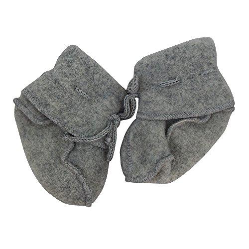 Baby Schühchen mit Bändel, Fleece, 100% Schurwolle