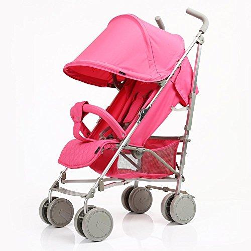 Super leichtes Baby Buggy Outdoor Travel bequeme Kinderwagen mit Regencover , pink