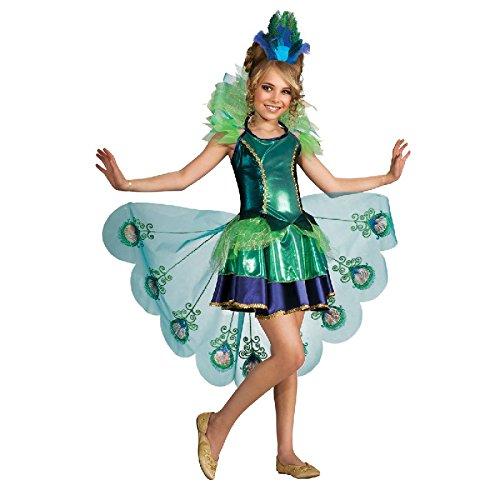 Pfau Kinder Kostüm Pfauenkostüm als Vogel zu Karneval Fasching Gr.L