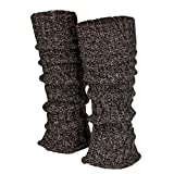 Piarini 1 Paar Grobstrick Stulpen Damen Bein | warme Winter Beinstulpen | One-Size Wolle Multicolour-braun