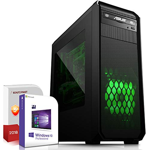 Multimedia PC AMD FX-8300 8x3.3GHz |ASUS Board|8GB DDR3|1000GB HDD|Radeon HD 3000 DVI|DVD-RW|USB 3.0|SATA3|Sound|Windows 10 Pro|GigabitLan|3 Jahre Garantie|Made in Germany|Computer Desktop Rechner Wor