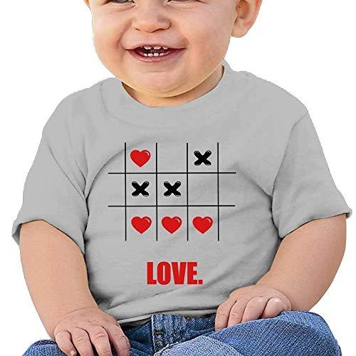 rls Infant Tic Tac Toe Love Heart Short Sleeve Tee ()