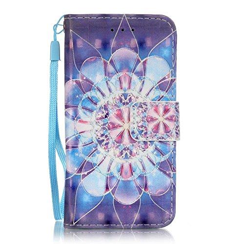 Voguecase® für Apple iPhone 6/6S 4.7 hülle,(Feder/Grau) Kunstleder Tasche PU Schutzhülle Tasche Leder Brieftasche Hülle Case Cover + Gratis Universal Eingabestift Kristallblumen