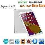Omiky® 10,1 Zoll Quad-Core 1G + 16G Android 6.0 Dual-SIM-Dual-Kamera-Telefonauflage WiFi Phablet Tablet PC (Silber)