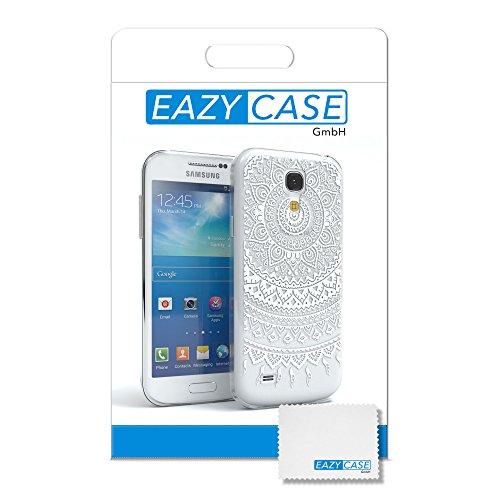 Samsung Galaxy S4 Mini Hülle - EAZY CASE Handyhülle - Ultra Slim Glitzer Schutzhülle aus Silikon in Pink Henna Weiß