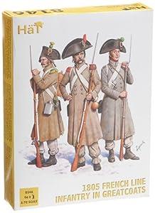 HäT 8146 - Soldados franceses de infantería con Capa (1805)
