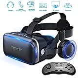 honggu VR Shinecon VR-Headset, 3D-Brille, Virtual-Reality-Brille für VR-3d-Filme, mit Fernbedienung