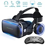 Honggu VR Shinecon VR Headset 3d Glasses Virtual Reality Headset for VR Games & 3D Movies Pack with Remote Controller
