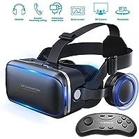 Honggu VR Shinecon VR Headset Lunettes 3d casque de réalité virtuelle pour VR Jeux et films 3d Lot avec télécommande