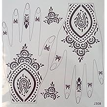 HENNA MARRON Tatouages temporaires au henné Henna pour le main j308br