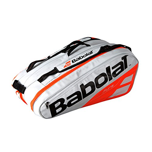 Babolat Herren Racket Holder X12 Pure, Weiss/rot (908), 12 -