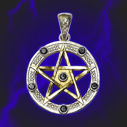 Amulet Pentacle Pentagram Universal Star Wicca Spinel