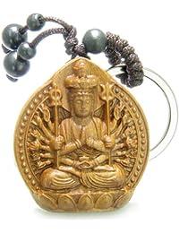 Best Amulets Amulet Sandal Wood Kwan Yin Quan Thousand Miracles Hands Feng Shui Keychain