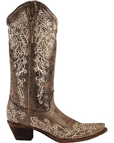 Corral Boots  A1904, Bottes et bottines cowboy femme Marron - Brown Bone