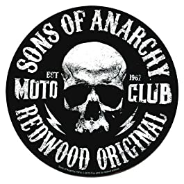 SONS OF ANARCHY, Moto Club Skull, Officially Licensed, 3.75″ x 3.75″, Die-Cut STICKER ADESIVO DECAL