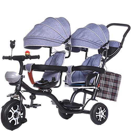 YUMEIGE Dreiräder Kinder Dreirad Kinderwagen für Neugeborene und Kleinkind - Cabrio Kinderwagen 1-6 Jahre alt Geburtstag Geschenk Dreirad Last Gewicht 100kg Kinder Spaziergänger Kleinkind Trike mit Ma