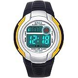 Jungen Digitaluhren Kinder Uhr Mädchen Jungenuhr Wasserdicht Sportuhren Digital Armbanduhr Uhr mit Wecker/Stoppuhr, Datum & Woche und Kalender (Dunkelviolett)